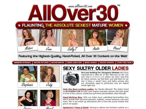Free Allover30.com Acounts