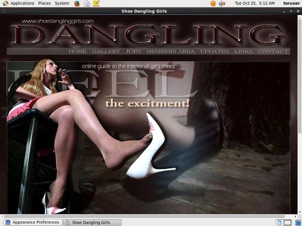 Shoe Dangling Girls Register