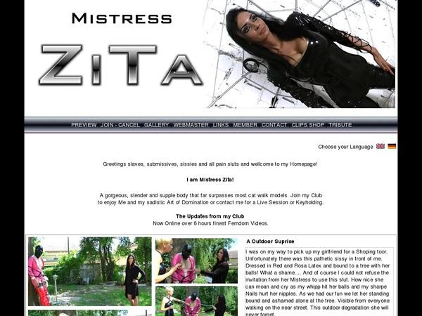 Mistress Zita Passcodes